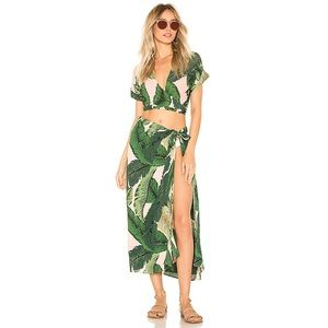 Beach Riot x REVOLVE Pink Palm Sarong Cover Up